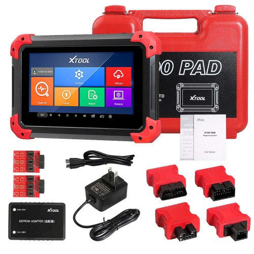 (UK Ship No Tax)Newest OBD2 XTOOL X100 PAD X 100 Auto Car Key Programmer With Oil Rest Tool And Odometer Adjustment Update Online Two Years for Free