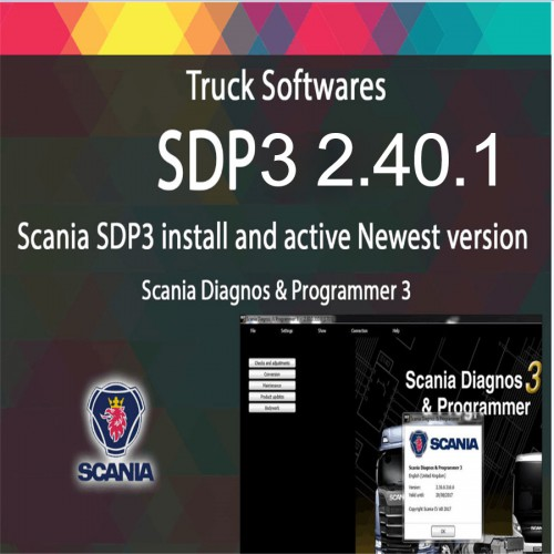 Scania VCI SDP3 2.40.1 Diagnos & Programmer + Activation Without Dongle
