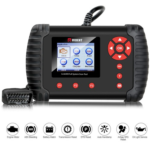 VIDENT iLink400 BMW/Mini/Rolls Royce Full System Scan Tool Perfect as Foxwell NT510 Support ABS/SRS/EPB//DPF Regeneration/Oil Reset