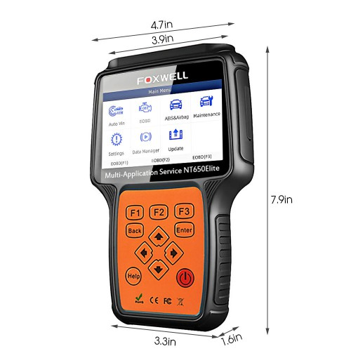 Foxwell NT650 Elite Multi-Application ABS Airbag SAS EPB DPF Oil Service Reset Tool Better than NT650