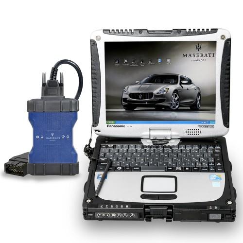 Maserati MDVCI Diagnosis Vehicle Communication Interface with CF19 Laptop Supports Programming with Maintenance Data