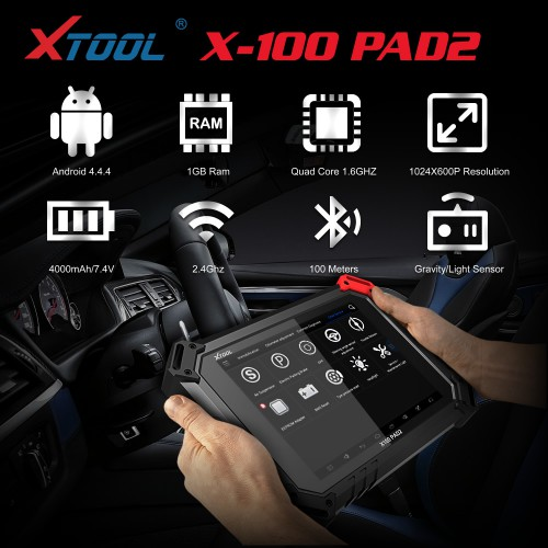 (UK Ship No Tax)XTOOL X-100 PAD 2 Tablet Key Programmer Special Functions Expert Update Version Of X100 PAD