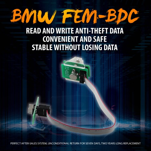 OEM BMW FEM-BDC 95128/95256 Chip Anti-theft Data Reading Adapter 8Pin Adapter work with VVDI Porg/CG Pro 9S12/Orange 5/UUSP UPA-USB