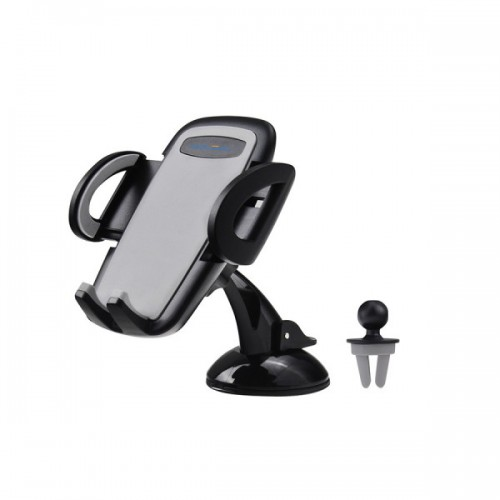 C02 3 in 1 Universal Adjustable Dashboard /Air Vent/ Windshield Car Phone Mount Holder Cradle for iPhone, Samsung, HTC, Droid, LG & Other Smartphones