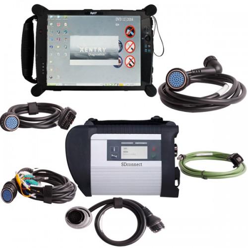 MB SD Connect C4 C5 V2020.3 with DTS Monaco & Vediamo Software Plus EVG7 DL46 Diagnostic Controller Tablet PC Free Installation