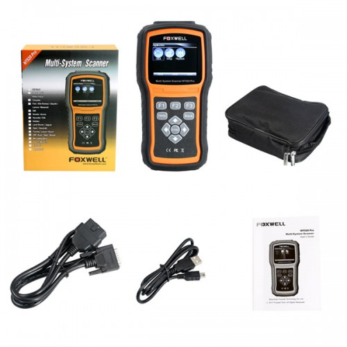 [UK Ship No Tax] Foxwell NT520 Multi-System Scanner with 1 Free Car Brand Software+OBD Software Firmware Updated Version of NT510