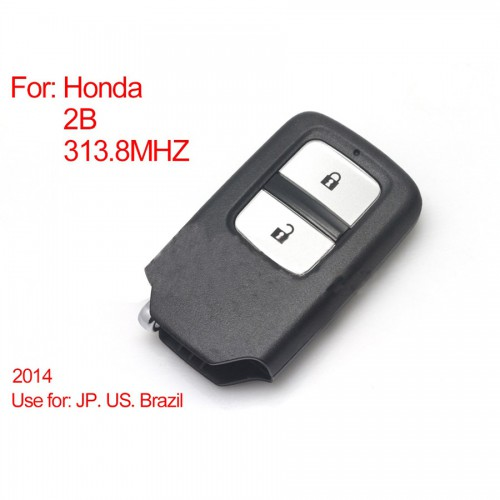 Intelligent Remote Control Key 2Buttons 313.8MHZ (Black) for Honda