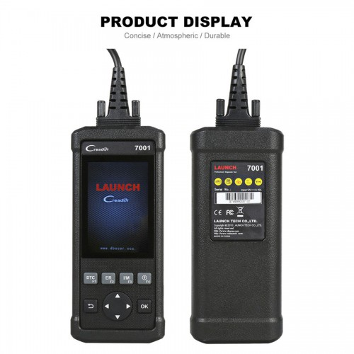 Launch CReader 7001F DIY Code Reader Full OBD2 Scanner with Oil Service Reset, EPB/SAS/BMS/DPF/ABS Bleeding optional
