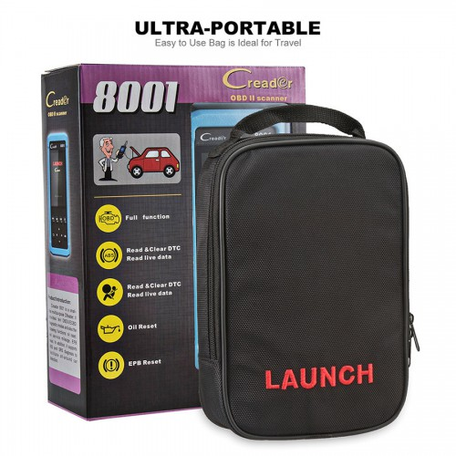 Launch CReader 8001 DIY Code Reader Full OBD2 Scanner/Scan Tool with Oil Resets Service