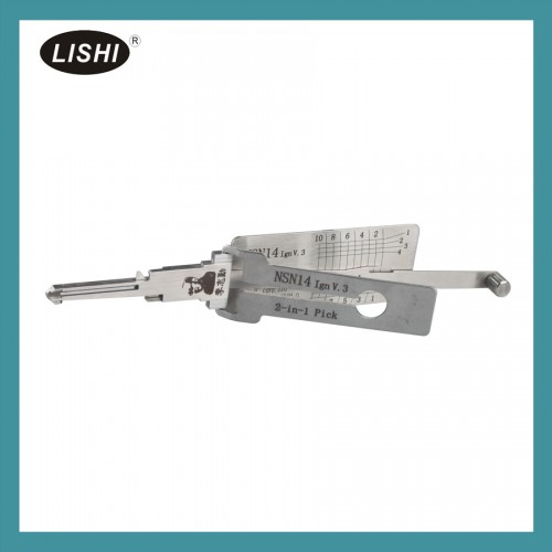 New LISHI NSN14 (Ign) 2-in-1 Auto Pick and Decoder