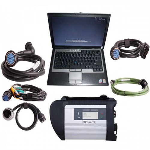 V2019.7 MB SD Connect C4 Star Diagnosis with DTS Monaco & Vediamo Engineer Software plus DELL D630 Laptop 4GB Memory