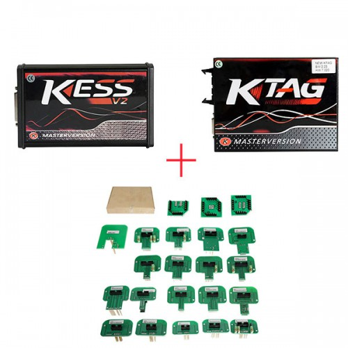 Red PCB EU Version! V5.017 KESS V2.47 Plus V7.020 KTAG V2.25 Plus BDM Probe Adapters Full Set