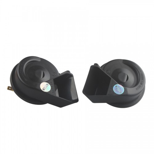 2pcs/lot Universal MINI Black Loud Dual-Tone Snail 12V 65C Electric Horn
