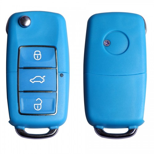 Volkswagen B5 Type Remote Key Shell 3 Buttons With Waterproof(Blue) 5pcs/lot