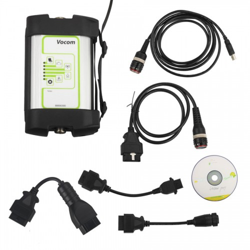 (UK Ship No Tax)Volvo Vocom 88890300 Truck Diagnostic Interface for Volvo/Renault/UD/Mack with Round Adapter