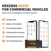 Humzor NexzDAS ND506 Commercial Vehicles Diesel Auto Full System Intelligent Diagnosis Tool