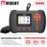 VIDENT iLink440 Four System Scan Tool Supports Engine ABS Air Bag SRS EPB Reset Battery Configuration
