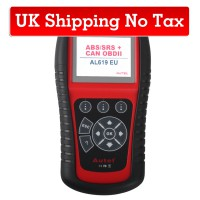 (UK Ship No Tax)AutoLink AL619 ABS SRS OBDII Diagnostic Tool with Multi-language Update Online