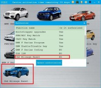 CGDI Prog BMW CAS Mileage Reset Authorization Service