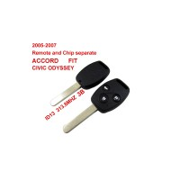 Remote Key 3 Button and Chip Separate ID:13 (313.8MHZ) For 2005-2007 Honda