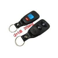Car Key Blank for Hyundai Santa Fe (2+1) Remote Key 315MHZ