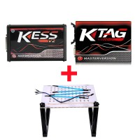 (UK Ship NoTax)EU Version Kess V5.017 Plus V2.25 Ktag V7.020 Red PCB Plus LED BDM Frame