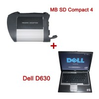 V2018.12 MB SD C4 WiFi Diagnostic Tool with DTS Monaco & Vediamo Software Plus Dell D630 1GB Laptop Plus Free Activation Service