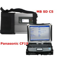 V2019.5 MB SD Connect Compact C5 with DTS Monaco & Vediamo Software Plus 4GB Panasonic CF19 Laptop Software Installed Ready to Use
