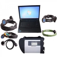 V2019.9 MB SD C4 WiFi Diagnostic Tool Plus 4GB Lenovo T410 Laptop with DTS Monaco & Vediamo Software Pre-installed to Use Directly