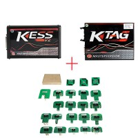 (UK Ship No Tax)Red PCB EU Version! V5.017 KESS V2.47 Plus V7.020 KTAG V2.25 Plus BDM Probe Adapters Full Set