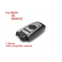 New Remote Key 4 Buttons 868mhz 7953 Chips Silver Side for BMW CAS4 F Platform 7 Series