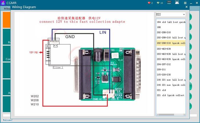 UK Ship CGDI MB AC Adapter Work with Mercedes W164 W204 W221 W209 W246 W251  W166 for Data Acquisition