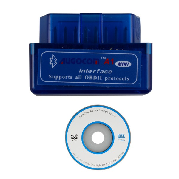 MINI ELM327 Bluetooth OBD2 Hardware V1.5 Software V2.1 AUGOCOM