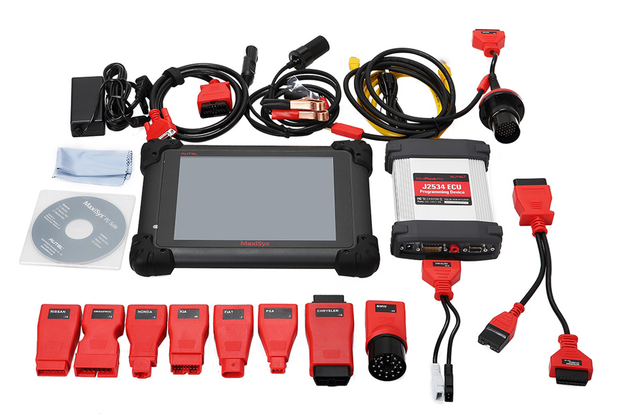 (Blow Out Sales)Autel MaxiSYS Pro MS908P WiFi WirelessDiagnosis and ECU Programmer with MaxiFlash Elite J2534 ECU Programmer