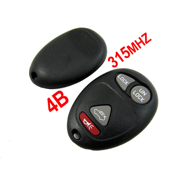 4 Buttons 315MHZ Remote Key for Buick Regal Made in China