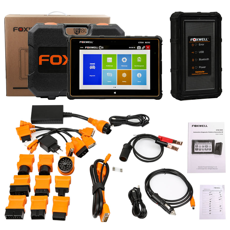 Foxwell GT80 Mini ABS SRS Airbag Engine Transmission OBDII Car Diagnostic Tool