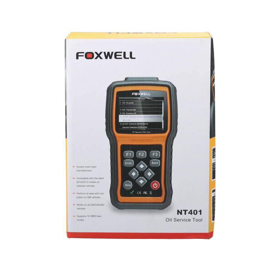 Foxwell NT401 Oil Light Reset Tool Universal Hand-held Oil Service Resetter Support Multi-language