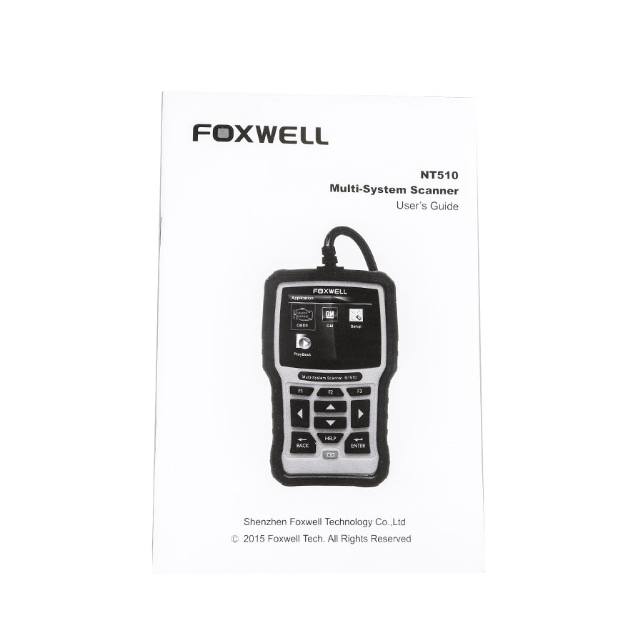 (UK Ship No Tax)Buy Foxwell NT510 Multi-System Scanner Get One Car Brand Software+ OBD Software for Free