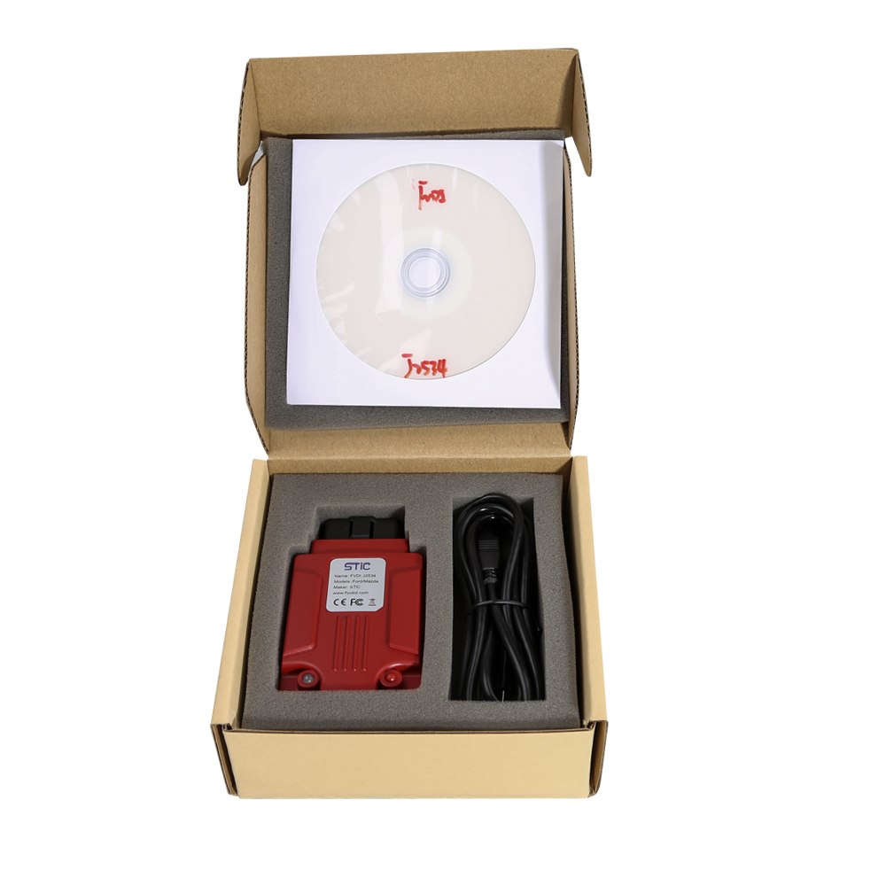 FLY FVDI J2534 Diagnostic Interface Supports SAE J1850 Module Programming Update Online Better than VCM2-5