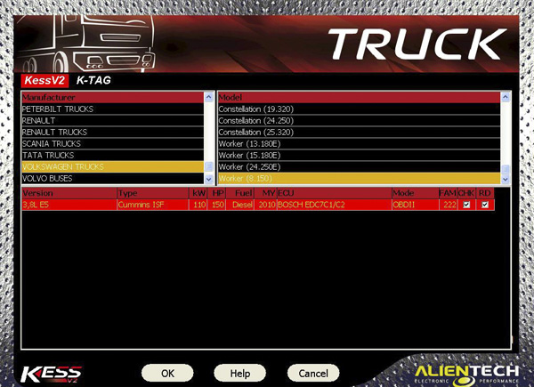 Truck Version Kess V2 Firmware V4.024 software