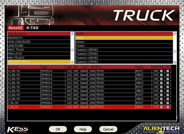 Truck Version Kess V2 V4.024 software