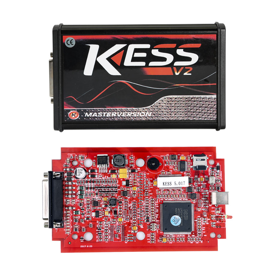 Kess V5.017 EU Version with Red PCB New Add Buzzer Support Online Add 140+ Protocol No Token Limited