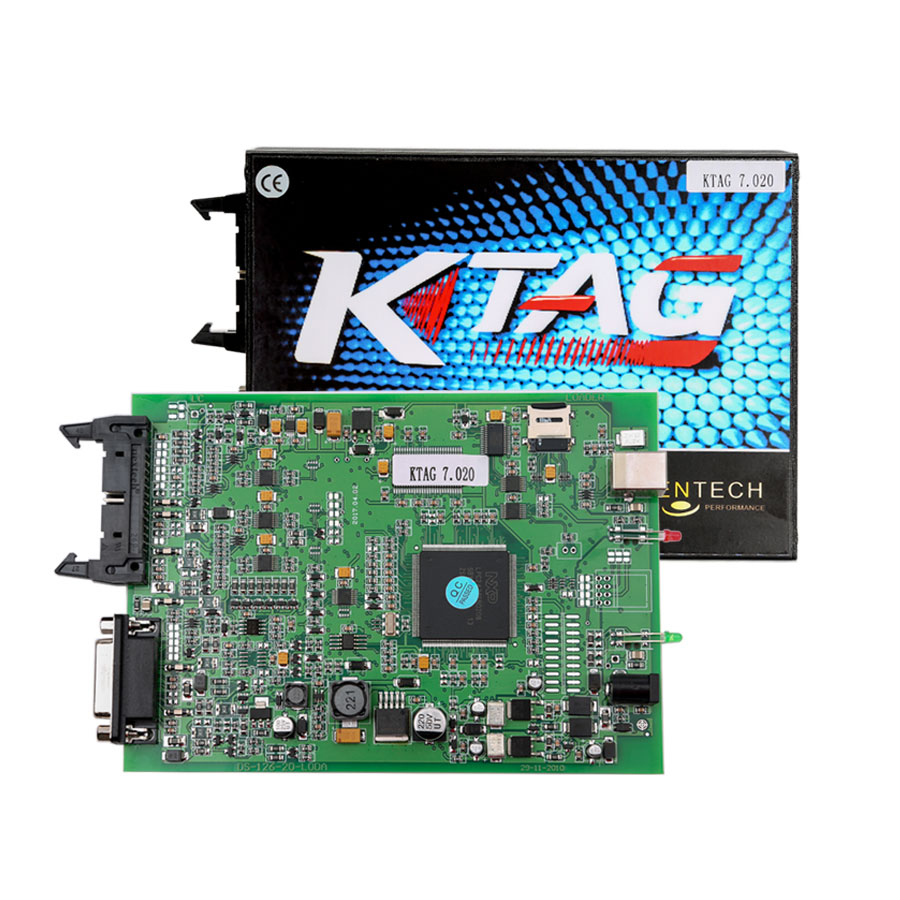(UK Shipping No Tax)Ktag SW 2.23 FW V7.020 Car Truck Tract Boat Master ECU Programmer No Tokens Need with ECM TITANIUM V1.61-4