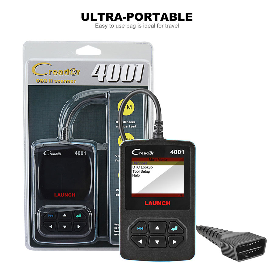 Multilingual Launch DIY CReader 4001 OBDII/EOBD Auto Diagnostic Scan Tool Code Reader Update Online