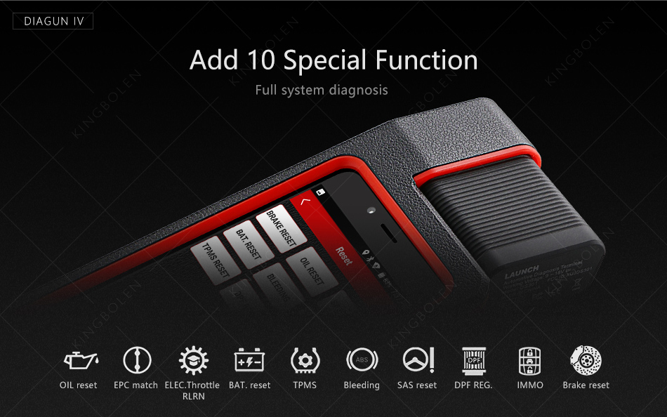 x431 diagun iv special function