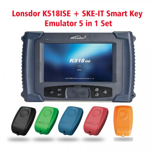 (UK Ship No Tax)Lonsdor K518ISE Key Programmer Plus SKE-IT Smart Key Emulator 5 in 1 Set Full Package-0
