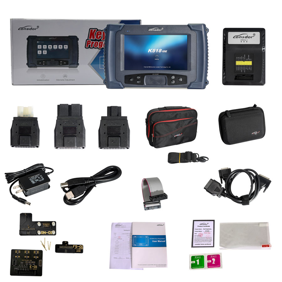(UK Ship No Tax)Lonsdor K518ISE Key Programmer Plus SKE-IT Smart Key Emulator 5 in 1 Set Full Package-1