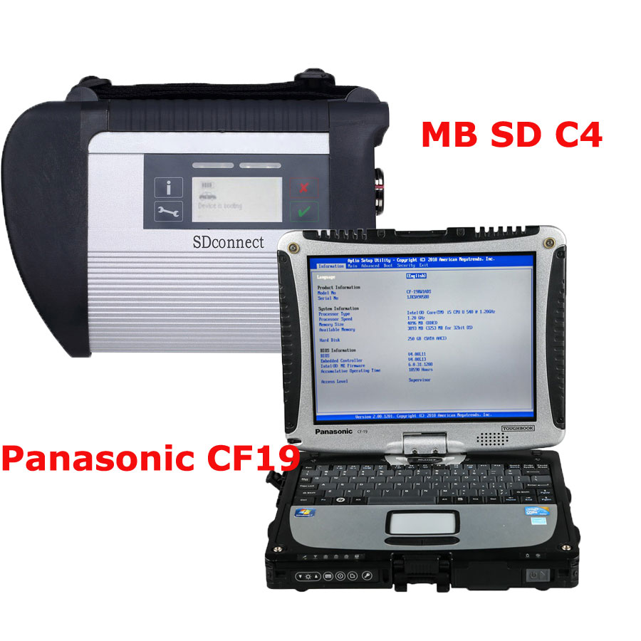 V2018.7 MB SD Connect 4 MB Star C5 with DTS Monaco & Vediamo Software Plus 4GB Panasonic CF19 Laptop Pre-installed and Activated Directly to Use