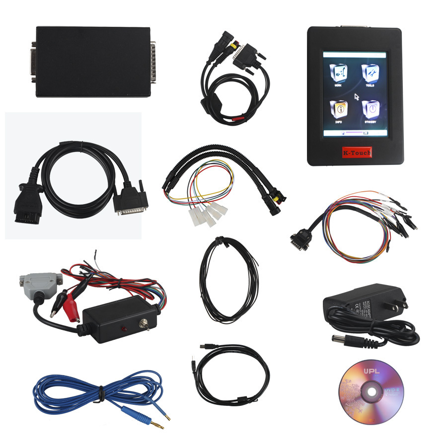 New Genius & Flash Point K-Touch Hand-held OBD2 Boot Master ECU Programmer Touch MAP with Free Winols 2.24&ECM Titanium 1.61