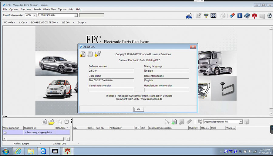 V2017 12 MB SD Connect Compact C4 C5 Star Xentry DAS DELL